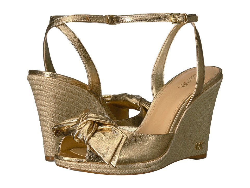 MICHAEL Michael Kors - Willa Wedge (Pale Gold) Women's Wedge Shoes