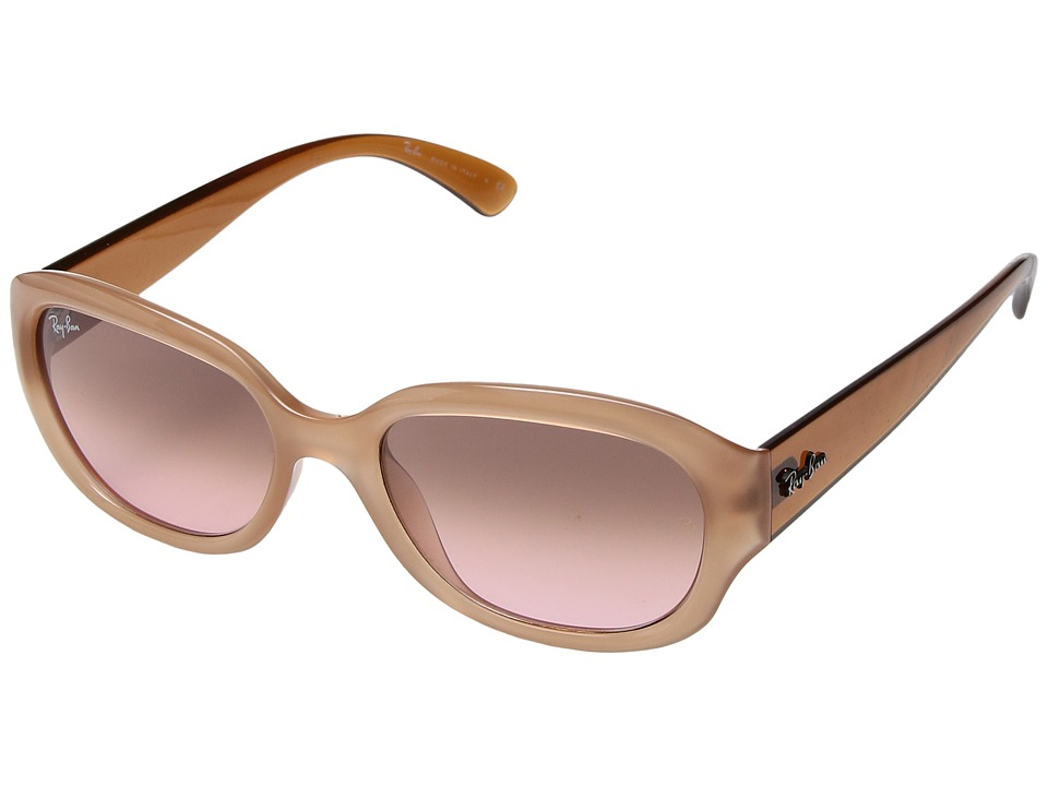 Ray-Ban - 0RB4198 (Opaline Pink) Fashion Sunglasses
