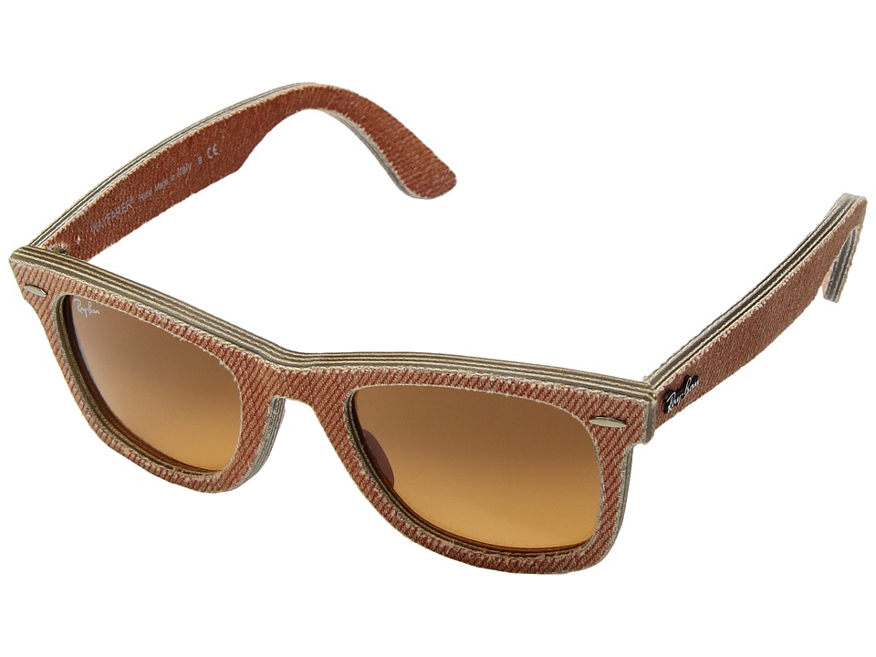 Ray-Ban - ORB2140 Wayfarer (Jeans Orange) Fashion Sunglasses