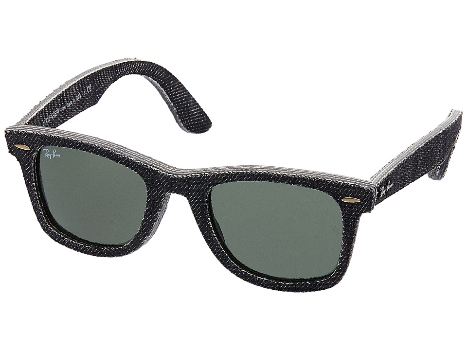 Ray-Ban - ORB2140 Wayfarer (Jeans Black) Fashion Sunglasses