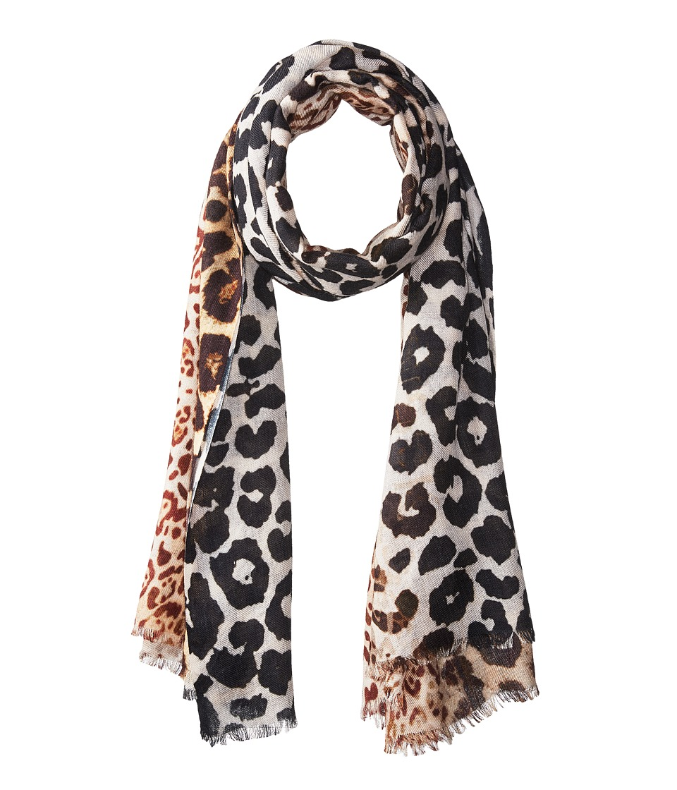 Bindya - Cashmere/Silk Stole Animal Mixed Print Scarf (Multi) Scarves