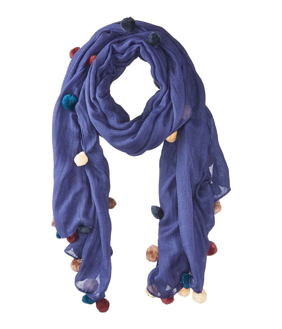 Bindya - New Pom Pom 5 Scarf (Purple) Scarves