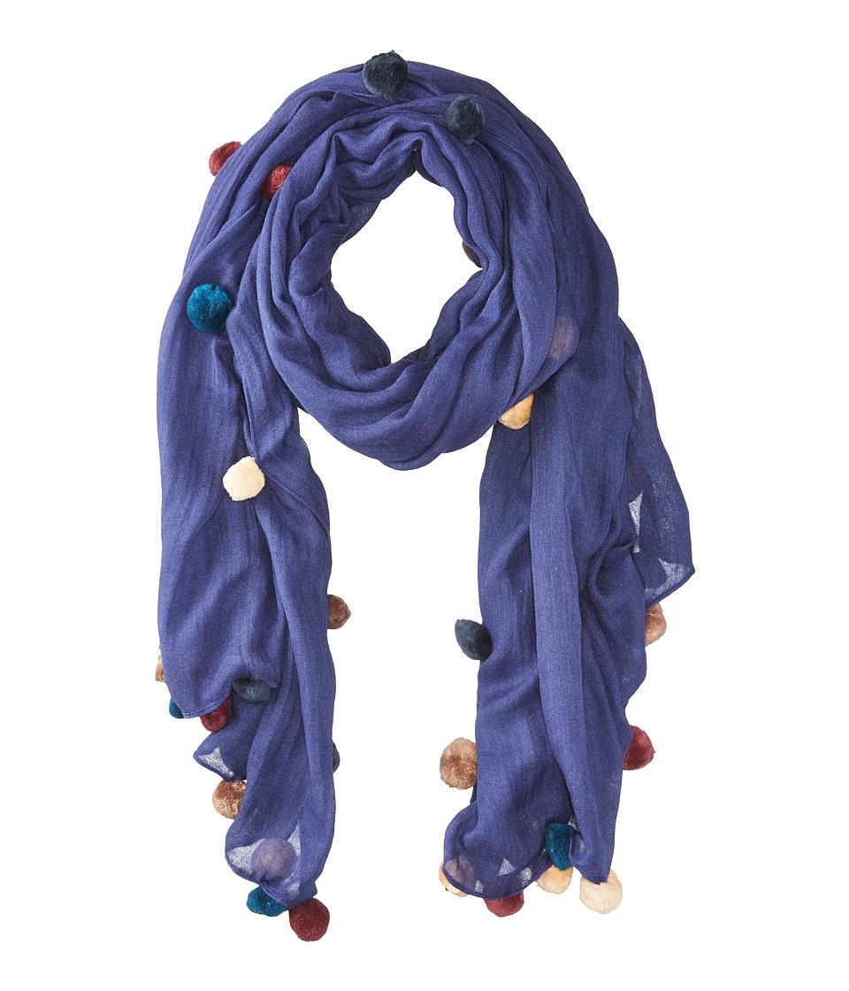 Bindya - New Pom Pom 5 Scarf (Purple) Scarves