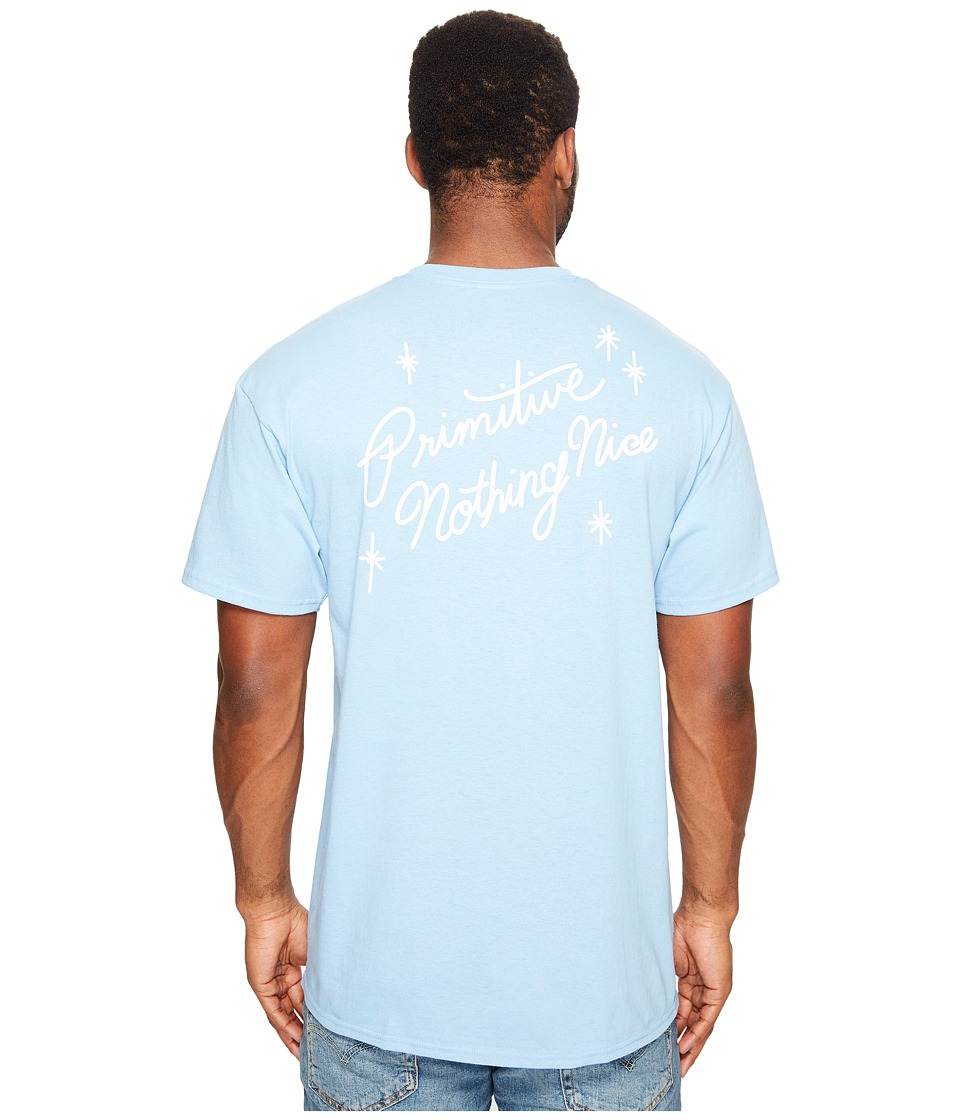 Primitive - Summer Nights Tee (Powder Blue) Men's T Shirt