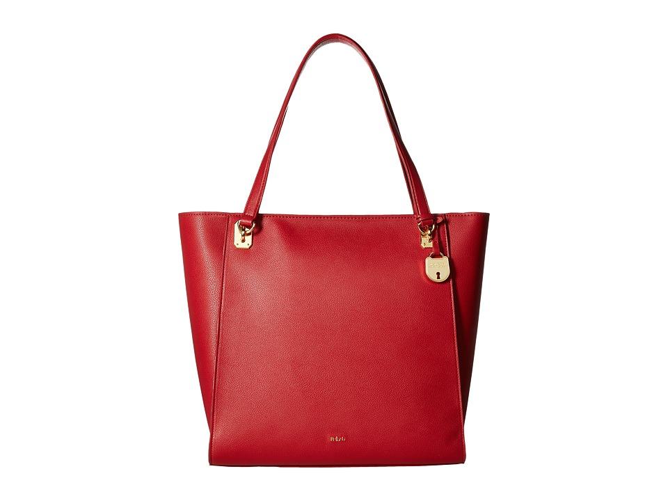 LAUREN Ralph Lauren - Emden Elizabeth Tote (Red) Tote Handbags