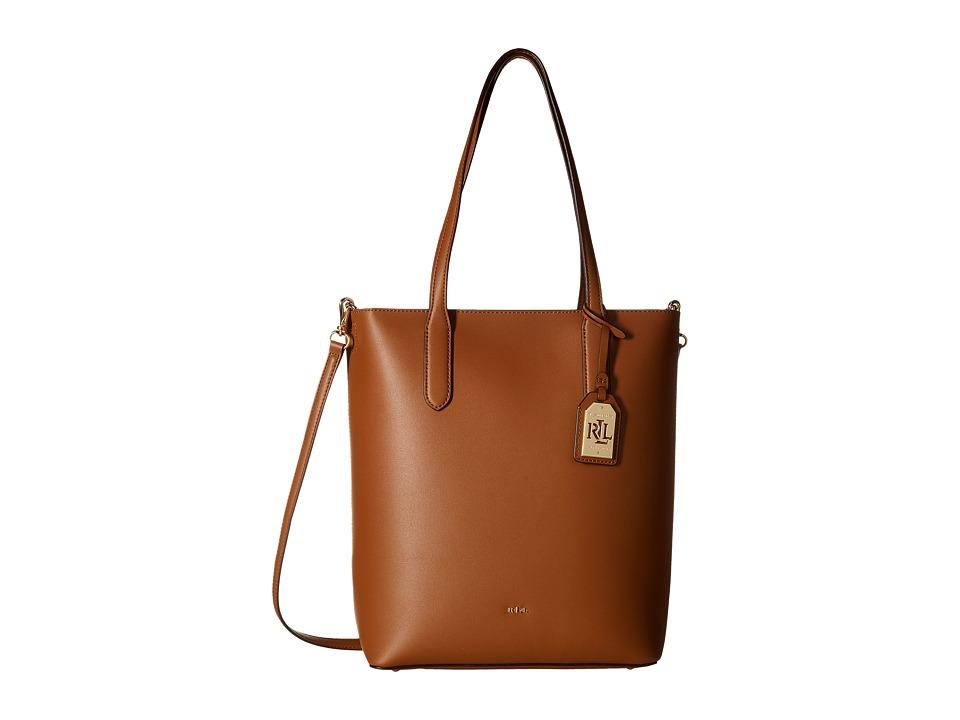 LAUREN Ralph Lauren - Dryden Alexis Tote (Field Brown/Monarch Orange) Tote Handbags