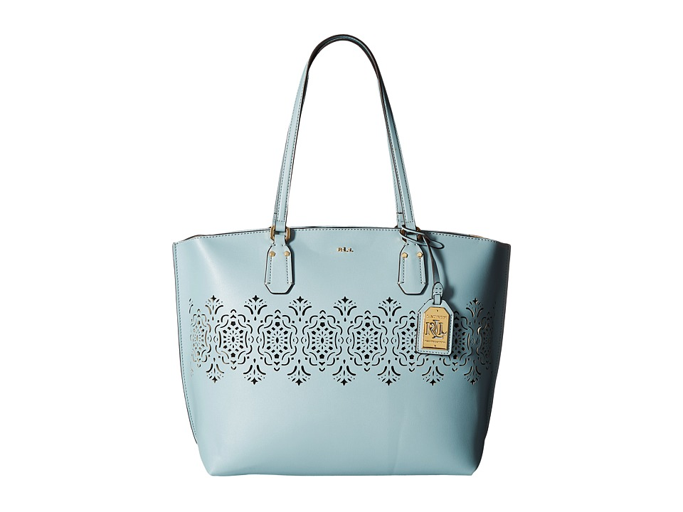 LAUREN Ralph Lauren - Lauderdale Tanner Tote Medium (Seaglass) Tote Handbags