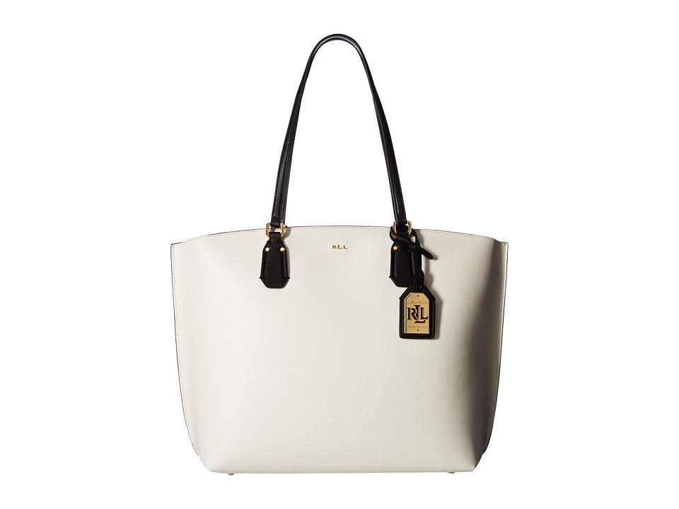 LAUREN Ralph Lauren - Lauderdale Tanner Tote Medium (Eggshell) Tote Handbags