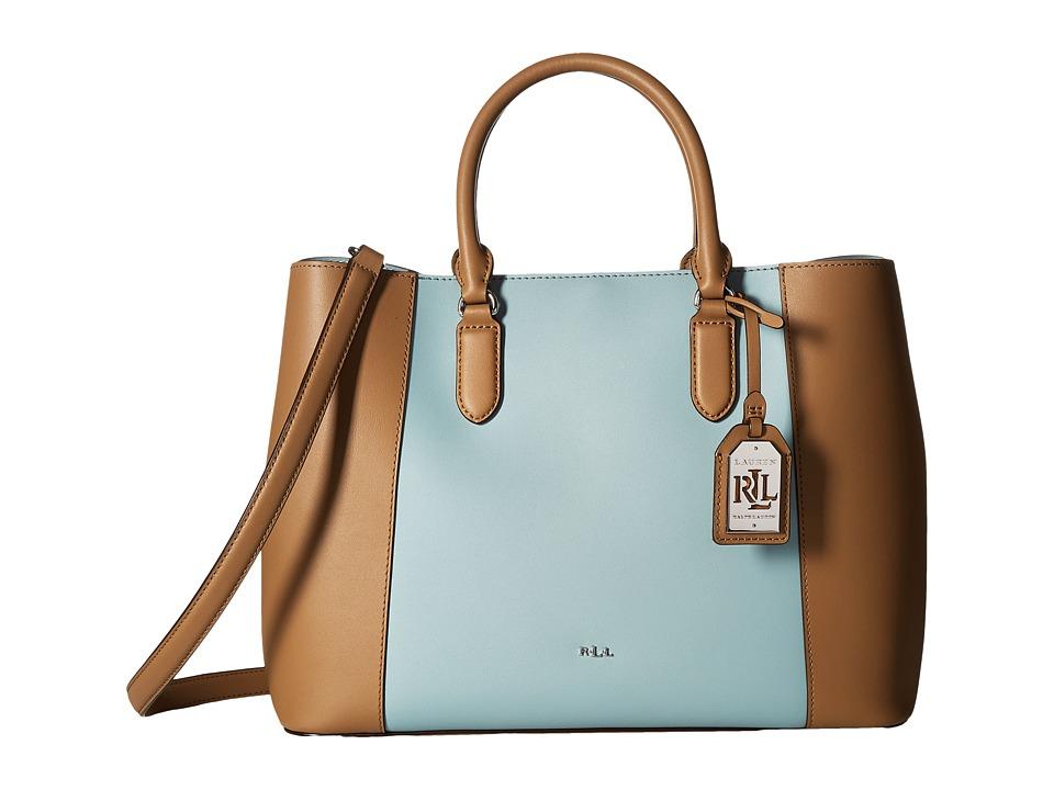 LAUREN Ralph Lauren - Dryden Marcy Tote Medium (Birch/Seaglass) Tote Handbags