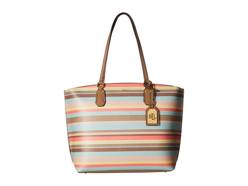 LAUREN Ralph Lauren - Lauderdale Tanner Tote Medium (Seaglass 1) Tote Handbags