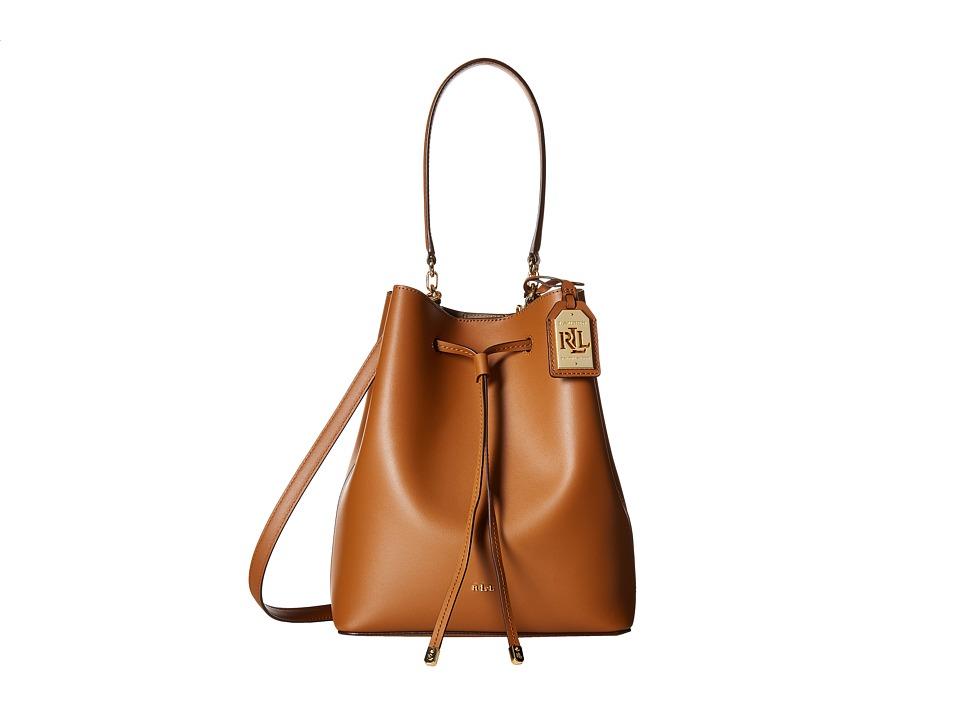 LAUREN Ralph Lauren - Dryden Debby Drawstring Medium (Brown/Truffle) Drawstring Handbags