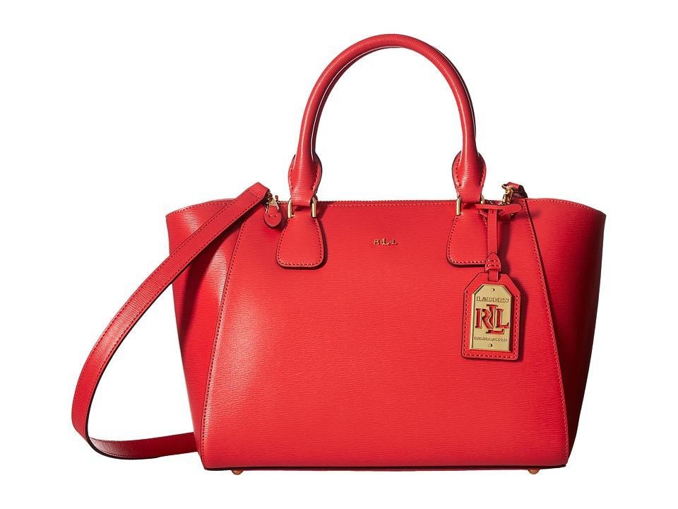 LAUREN Ralph Lauren - Newbury Stefanie II Satchel Small (Cayenne) Satchel Handbags