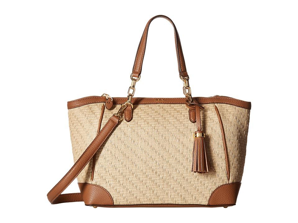 LAUREN Ralph Lauren - Howley Stefanie II Satchel Small (Natural) Satchel Handbags