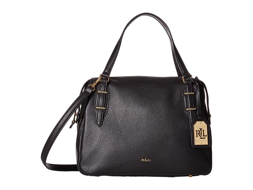 LAUREN Ralph Lauren - Easby Eileen Satchel Medium (Black) Satchel Handbags