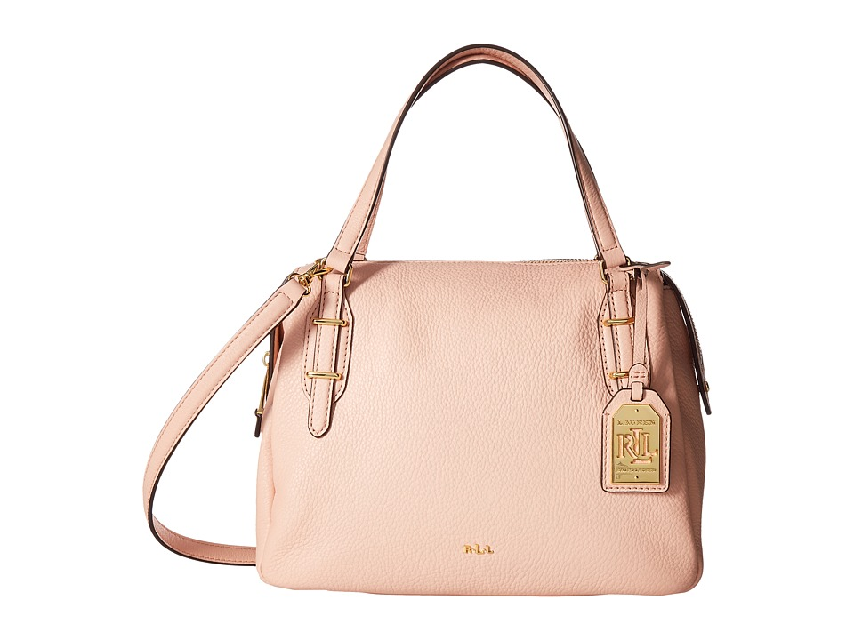 LAUREN Ralph Lauren - Easby Eileen Satchel Medium (Blush) Satchel Handbags