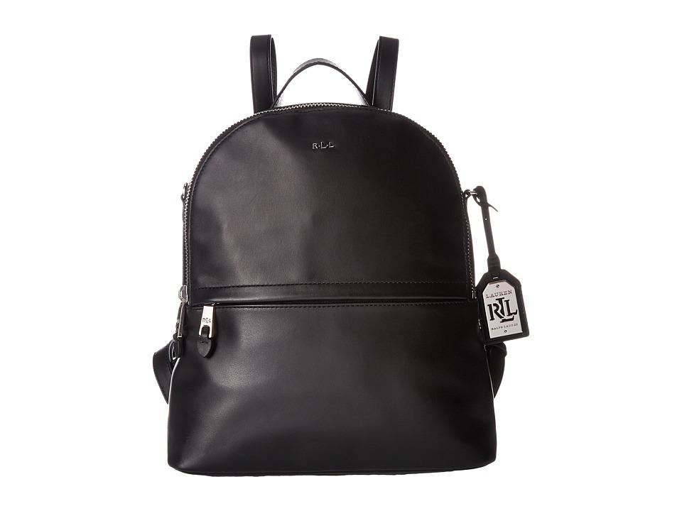 LAUREN Ralph Lauren - Halsbury Tami Backpack Medium (Black) Backpack Bags