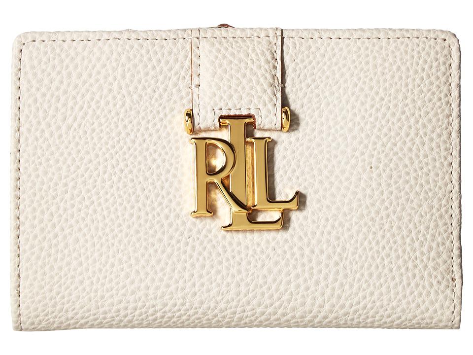 LAUREN Ralph Lauren - Carrington New Compact Wallet Small (Beige) Wallet