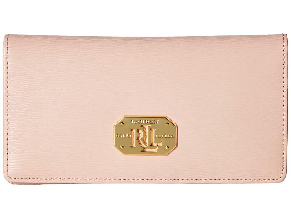 LAUREN Ralph Lauren - Newbury Slim Wallet Medium (Blush) Wallet