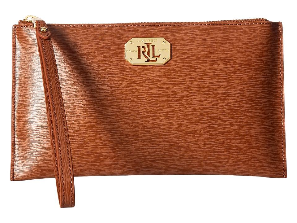 LAUREN Ralph Lauren - Newbury Envelope Wristlet Medium (Lauren Tan) Wristlet Handbags