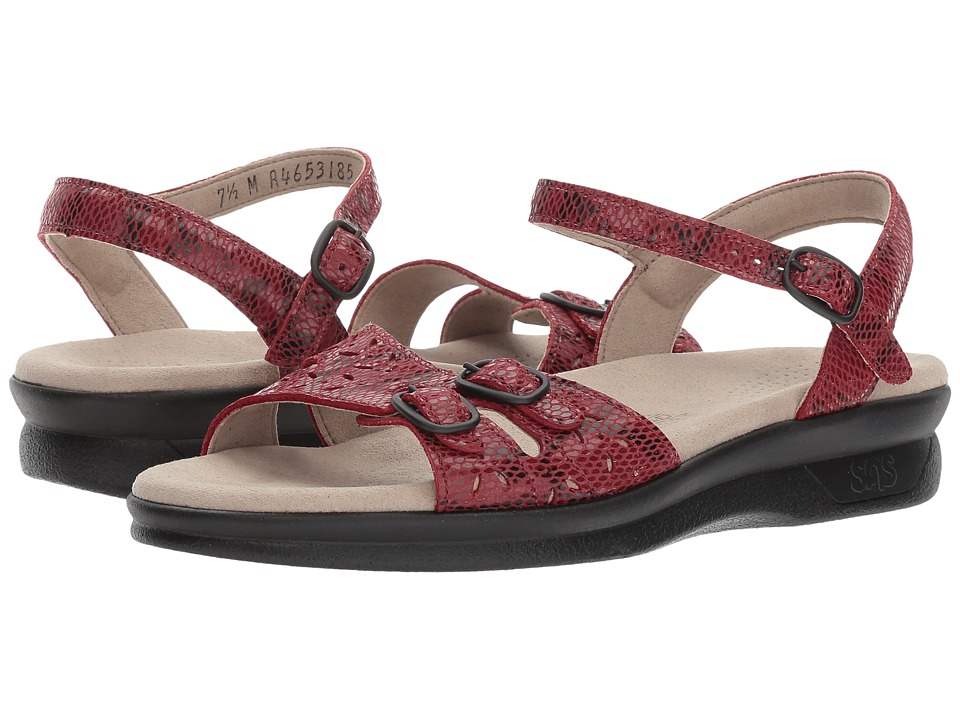 SAS - Duo (Red Snake) Women's Shoes