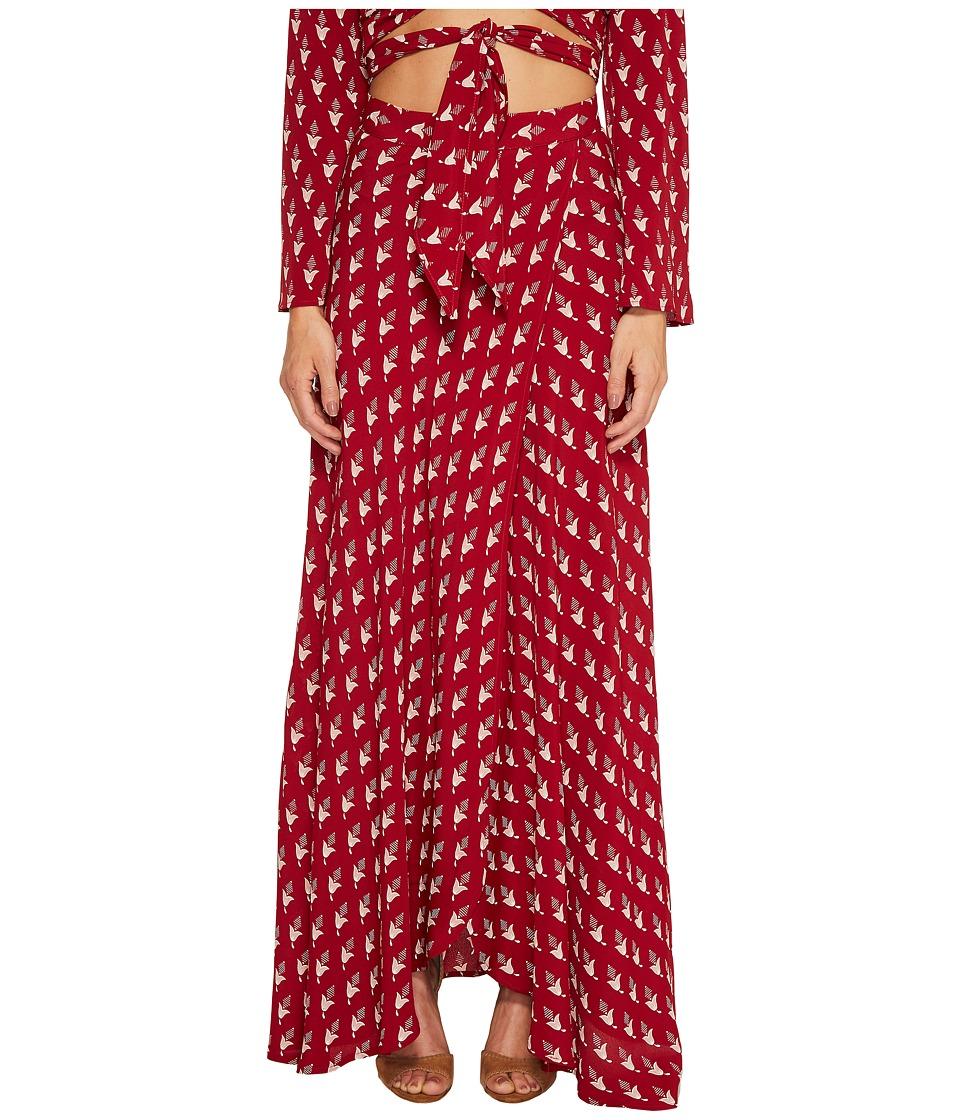 Flynn Skye - Wrap It Up Skirt (Flaming Tulips) Women's Skirt