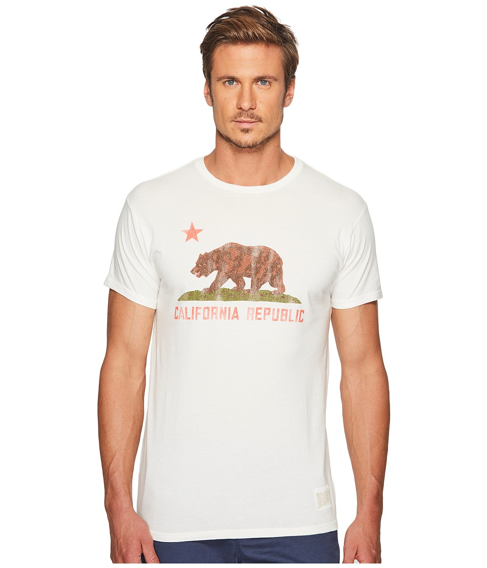 The Original Retro Brand - Vintage Cotton California Bear Tee (Off-White) Men's T Shirt