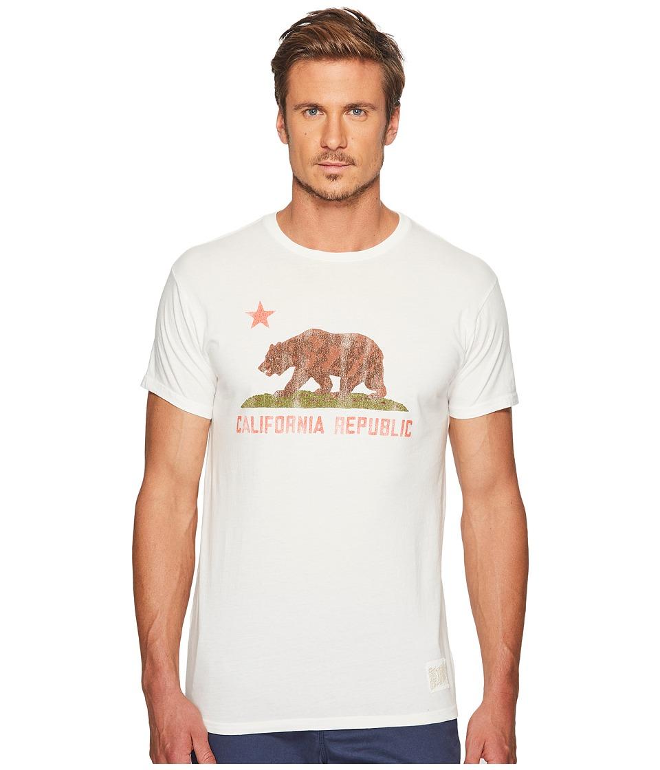 The Original Retro Brand Vintage Cotton California Bear Tee (Off-White) Men