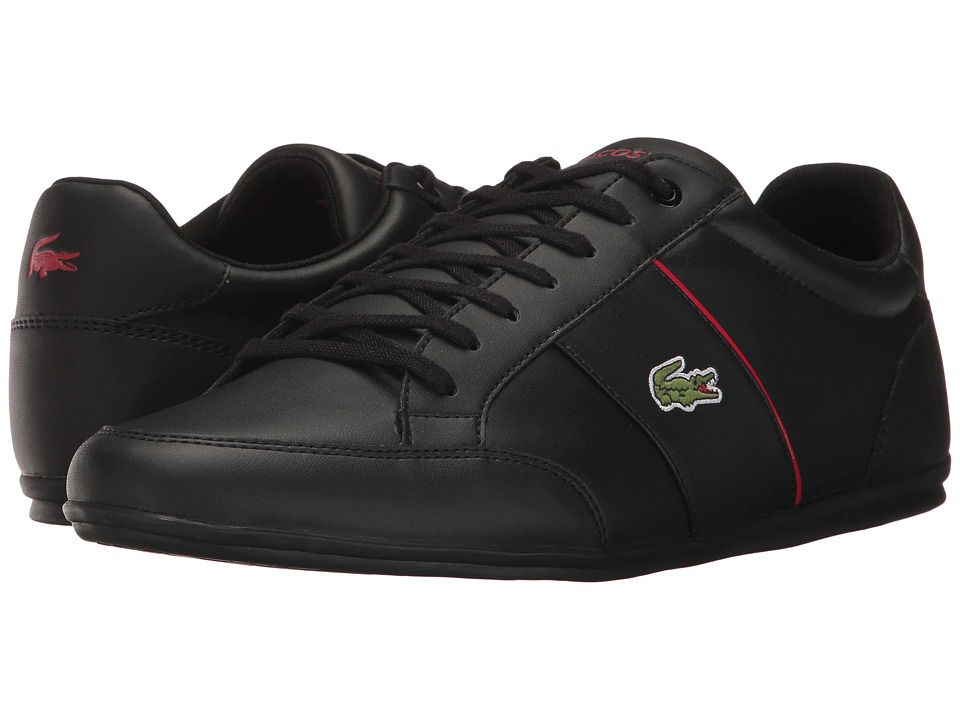 Lacoste - Nivolor 317 US (Black/Black/Red) Men's Shoes