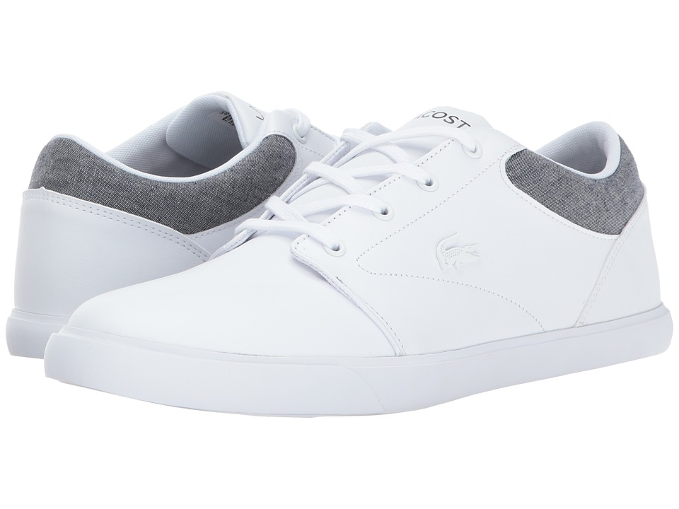 Lacoste - Minzah 317 2 US (White/Grey) Men's Shoes