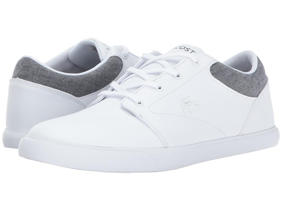 Lacoste - Minzah 317 2 US (White/Grey) Men's Shoes