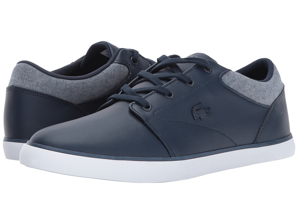 Lacoste - Minzah 317 2 US (Navy/White/Grey) Men's Shoes