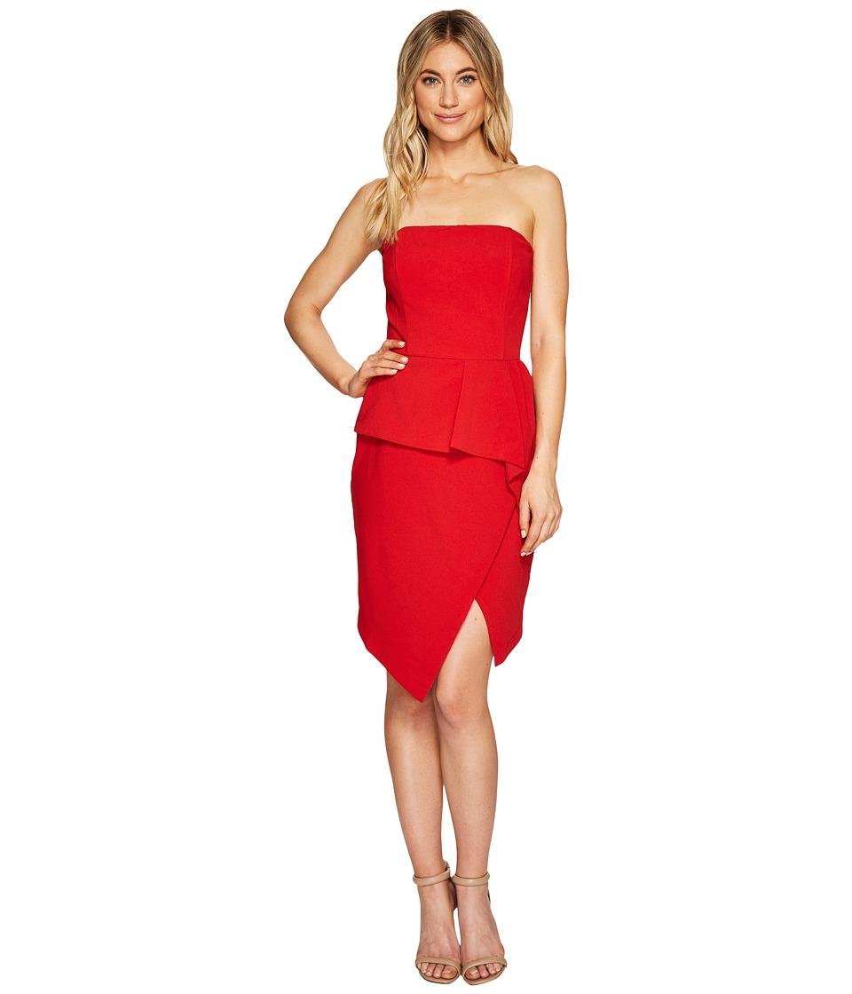 Adelyn Rae Samantha Tube Dress (Deep Red) Women