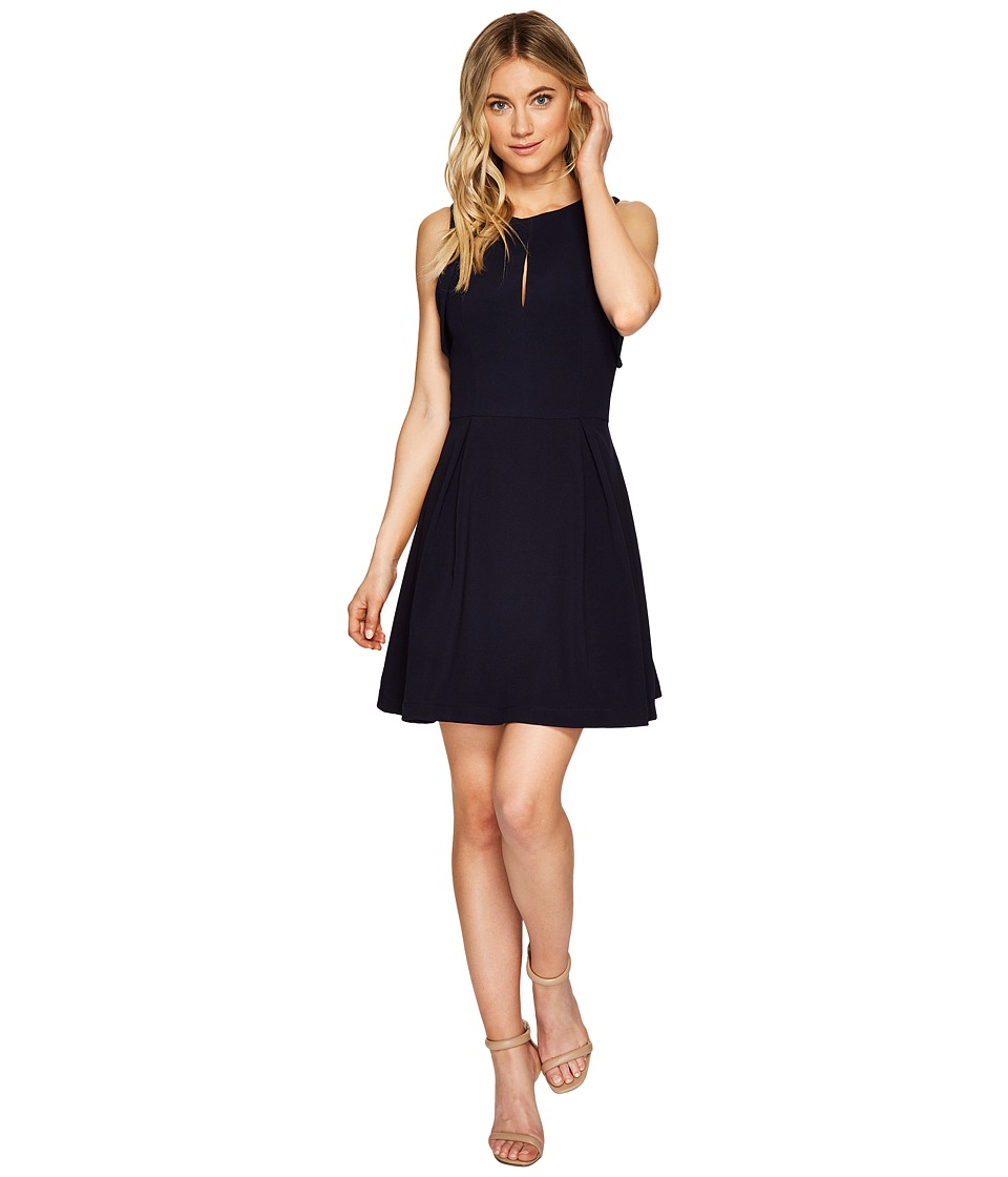 Adelyn Rae Samantha Fit Flare Dress (Navy) Women