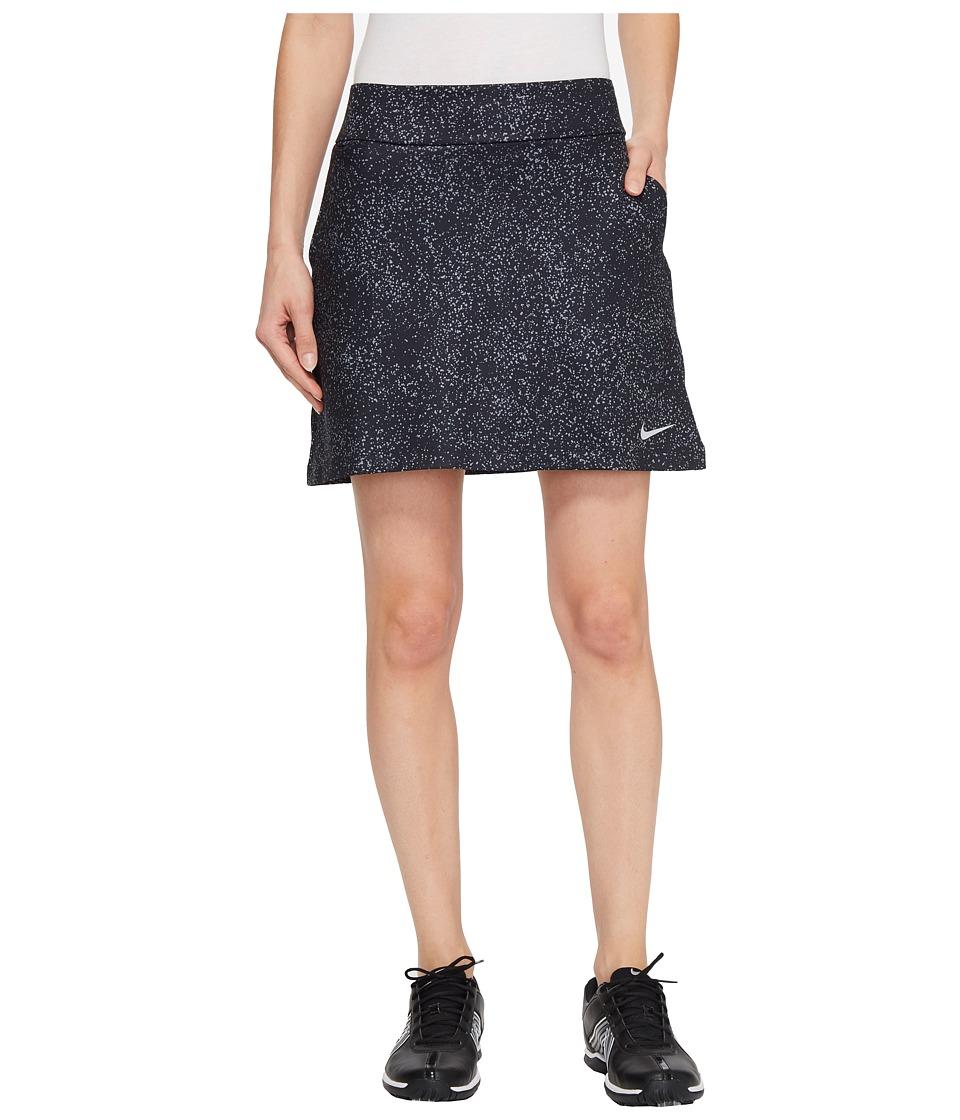 Nike Golf Dry Skort Knit 16.5 Sphere Print (Black/Flat Silver) Women