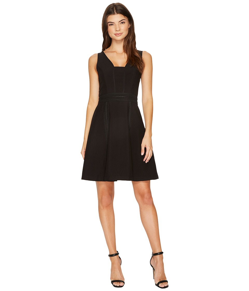 Adelyn Rae Gayle Fit and Flare Dress (Black) Women