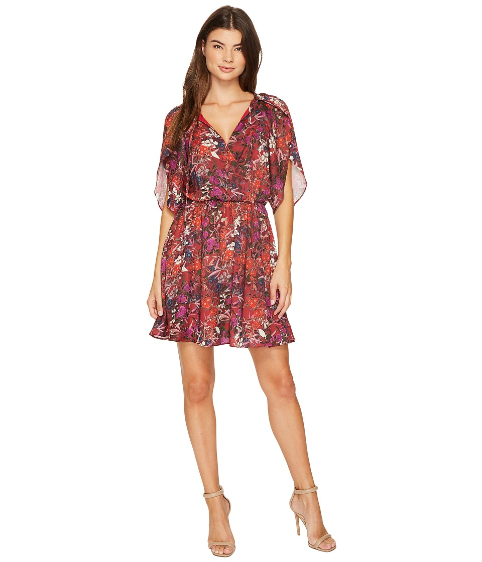Adelyn Rae - Franchesca Shirtdress (Red/Magenta) Women's Dress
