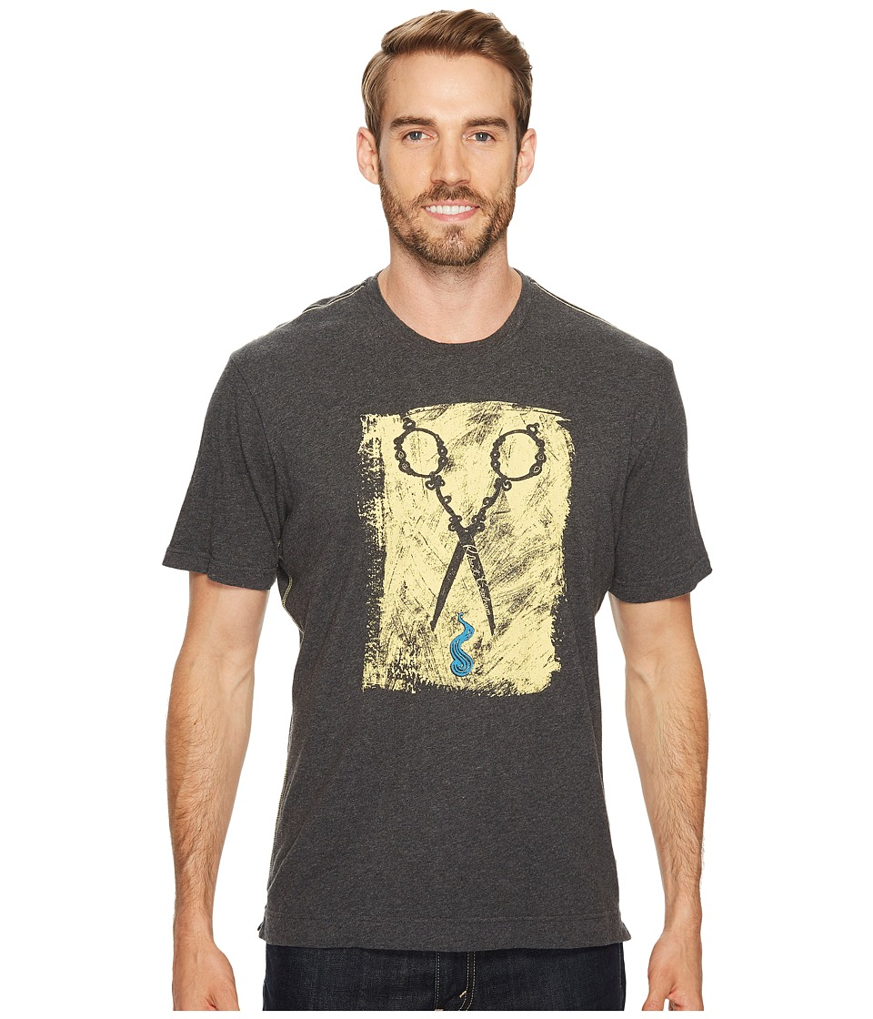 Robert Graham - Scissors Short Sleeve Knit Graphic T-Shirt (Charcoal) Men's T Shirt