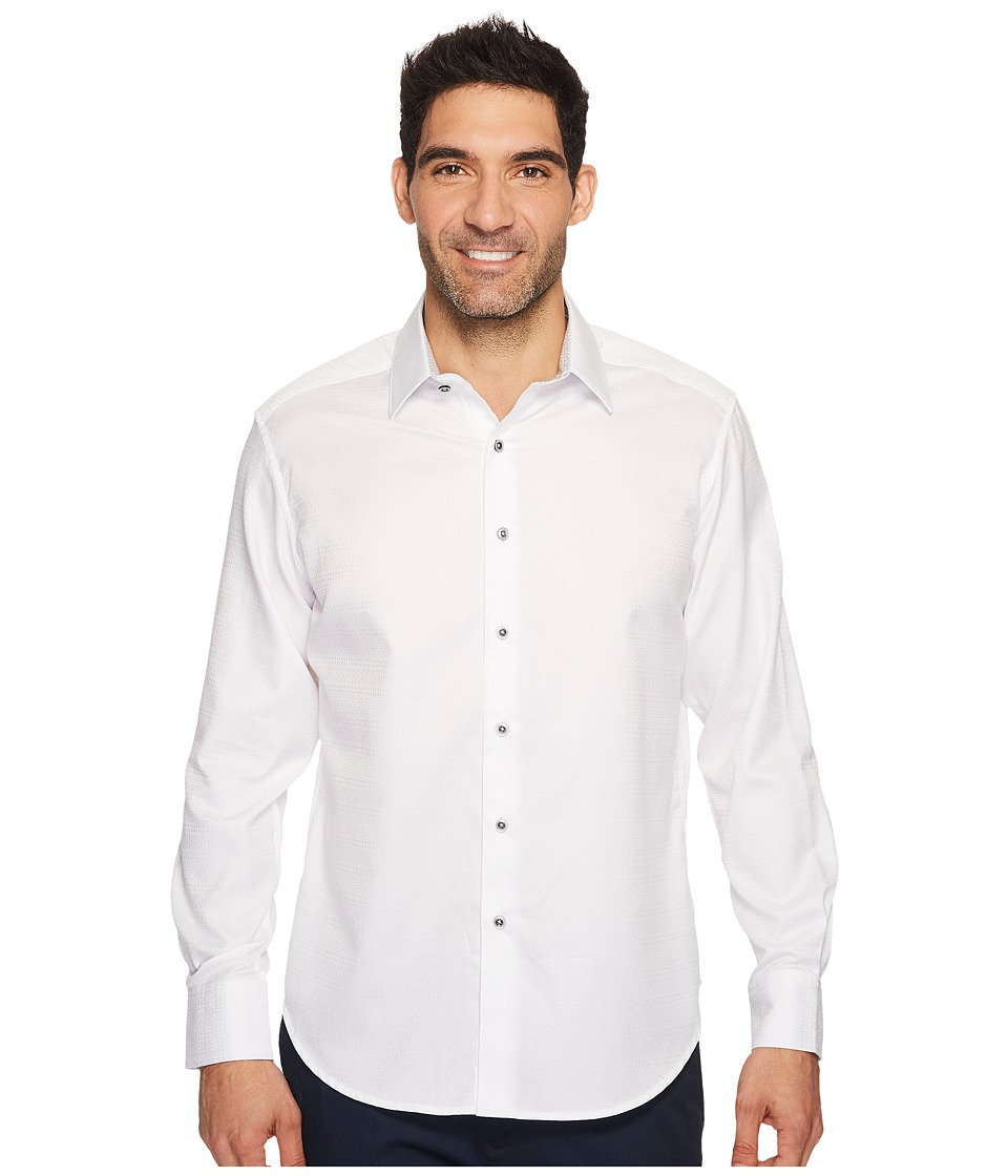 Robert Graham - Lewiston Long Sleeve Woven Shirt (White) Men's Long Sleeve Button Up