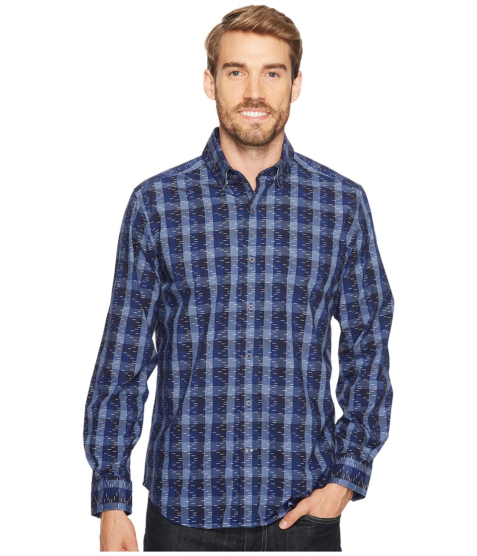 Robert Graham - Levy Long Sleeve Woven Shirt (Navy) Men's Long Sleeve Button Up