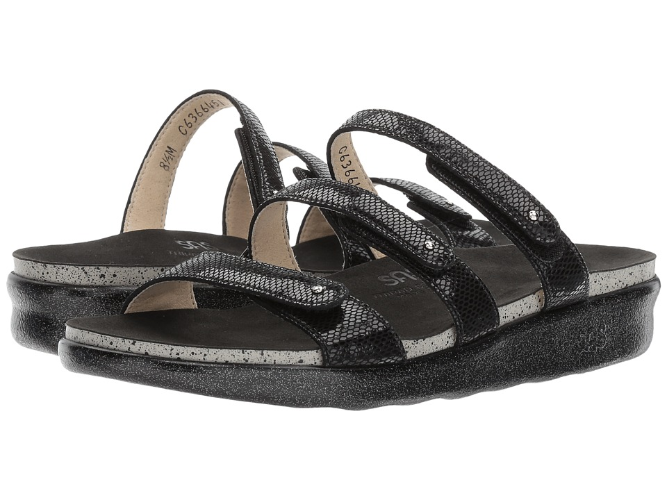 SAS - Iskia (Black Snake) Women's Shoes