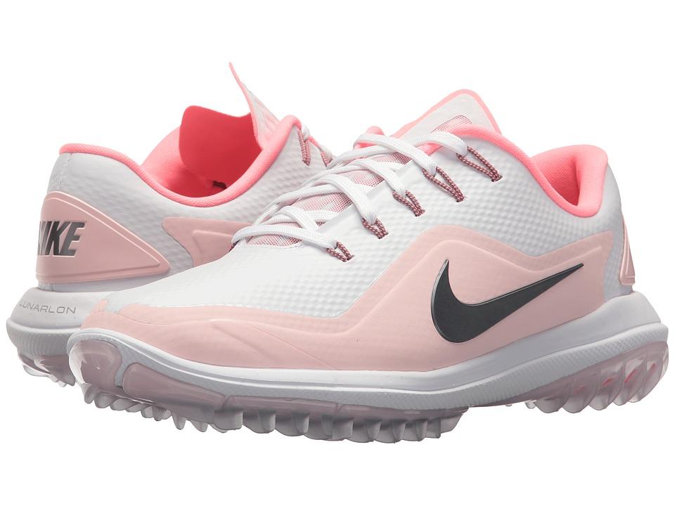 Nike Golf Lunar Control Vapor 2 (White/Metallic Cool Grey/Arctic Pink/Sunset) Women
