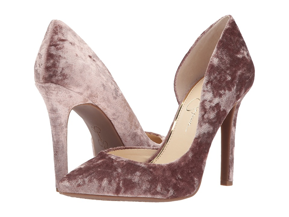 Jessica Simpson Claudette (Cashmere Mauve Luscious Velvet) High Heels