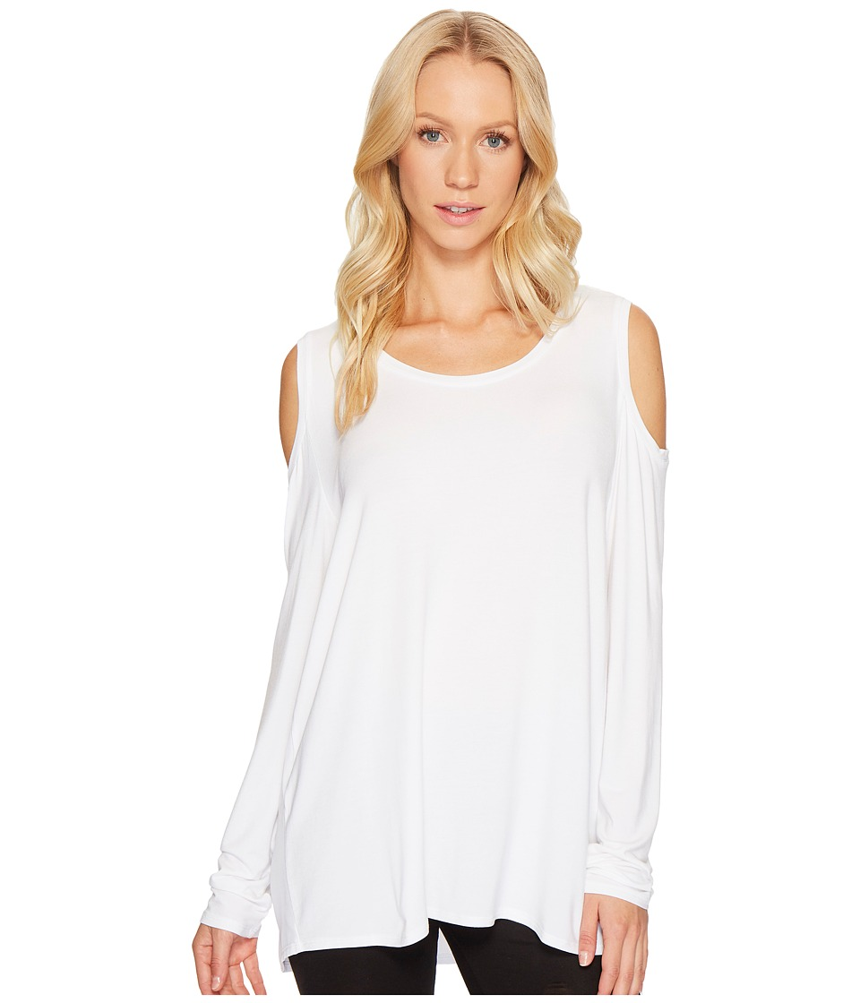 Lysse - Cold Shoulder Top (White) Women's Long Sleeve Pullover