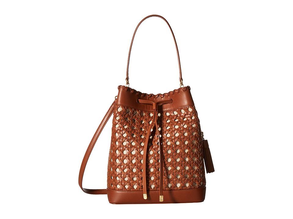 LAUREN Ralph Lauren - Portwood Debby Drawstring Medium (Field Brown) Handbags