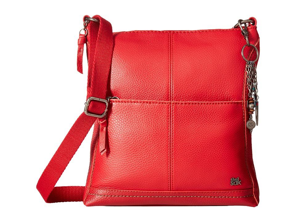 The Sak - Lucia Leather Crossbody (Ruby) Cross Body Handbags