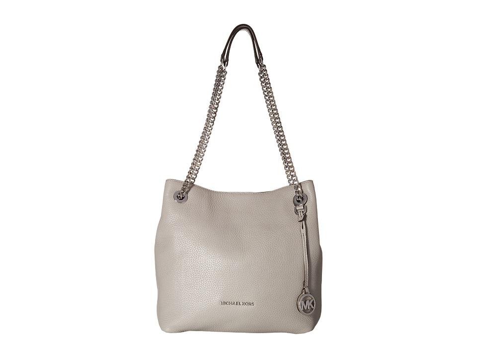 MICHAEL Michael Kors - Jet Set Chain Medium Shoulder Tote (Pearl Grey) Tote Handbags