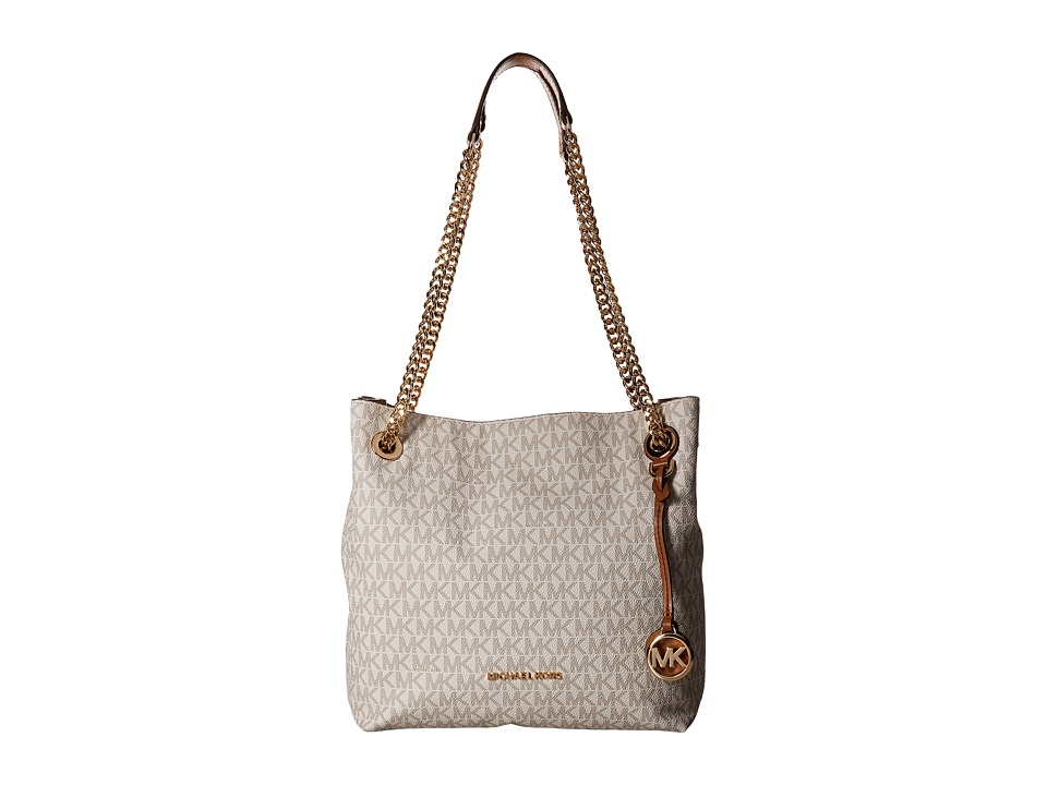 MICHAEL Michael Kors - Jet Set Chain Medium Shoulder Tote (Vanilla) Tote Handbags