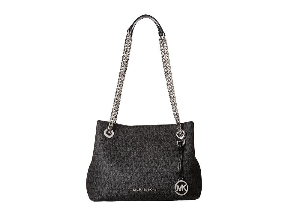 MICHAEL Michael Kors - Jet Set Chain Medium Messenger (Black) Messenger Bags