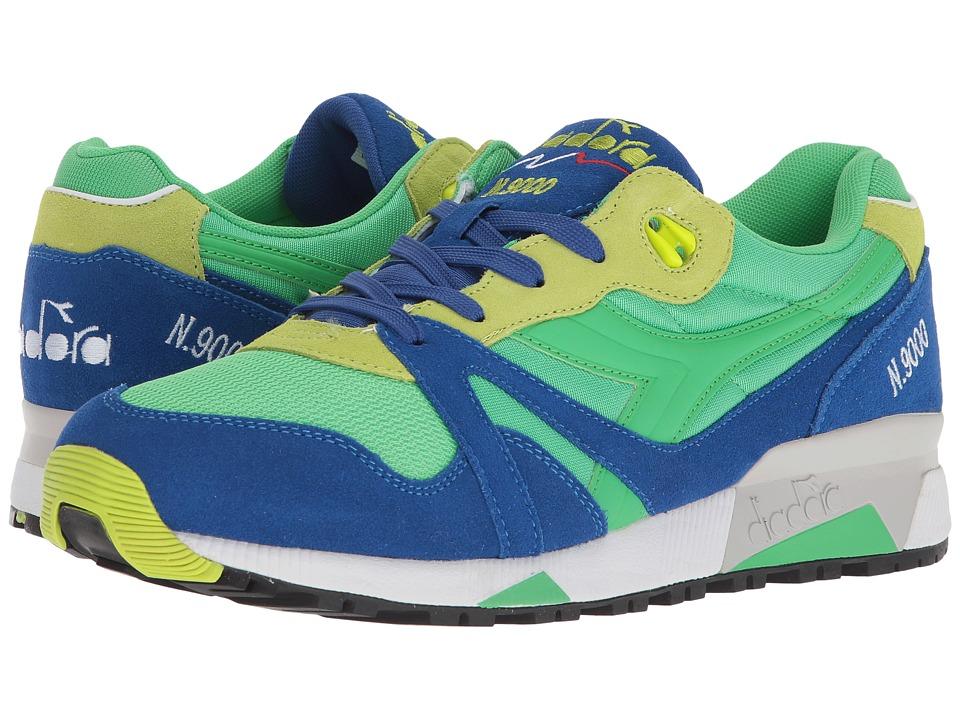 Diadora N9000 NYL (Irish Green/Lime Punch) Athletic Shoes