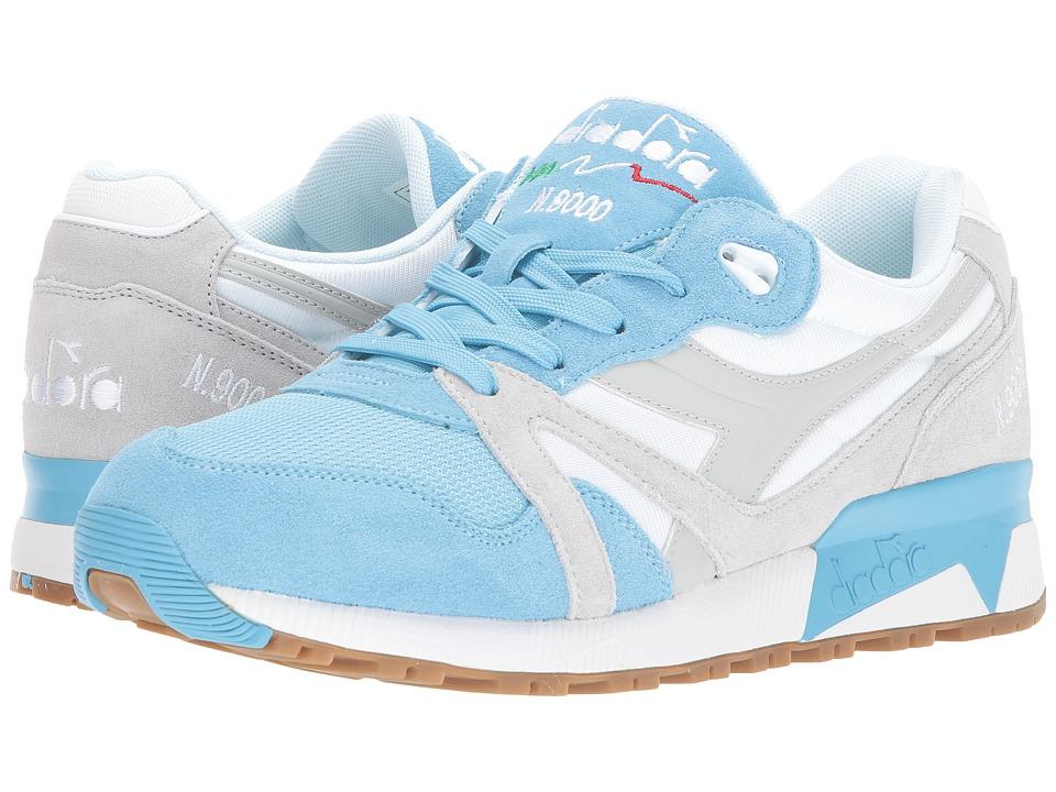 Diadora N9000 NYL (Blue Grotto/Lunar Rock) Athletic Shoes